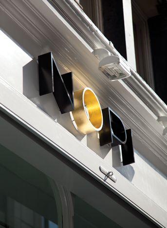 Nopi, London storefront sign
