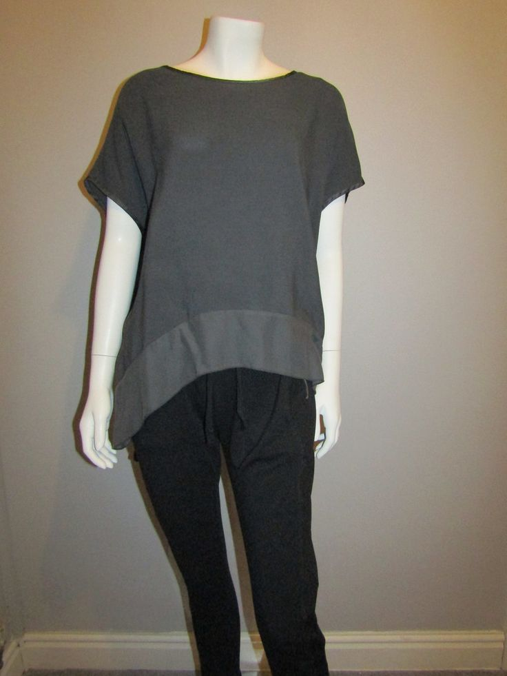 Lagenlook top 25401 grey