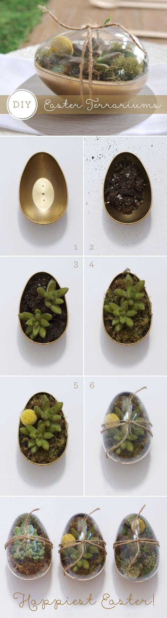 DIY Easter Egg Terrariums