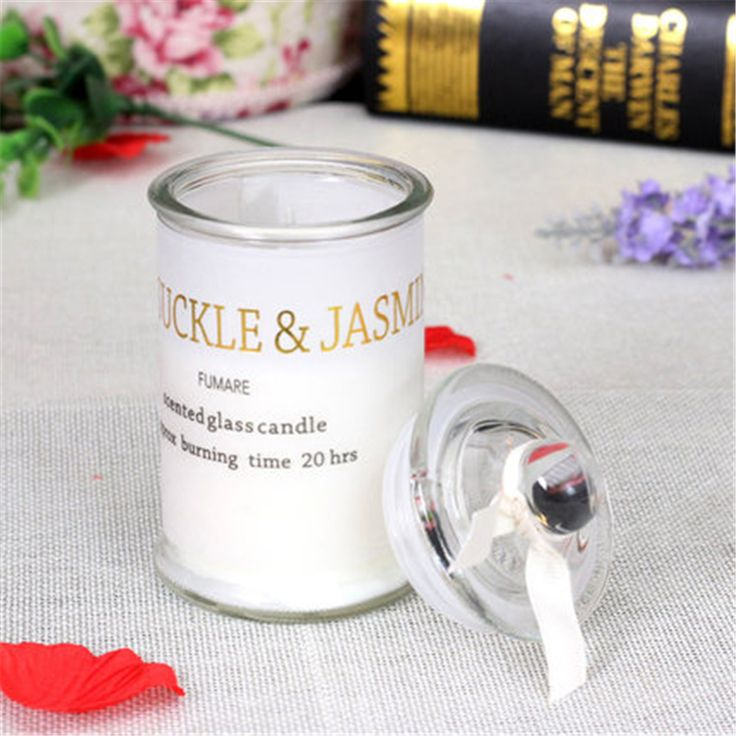 European Glass Decorative Candles Holders Scented Znicz Pillar Yankee Candle Wax Candles Wedding Decoration Making Home DDZ70