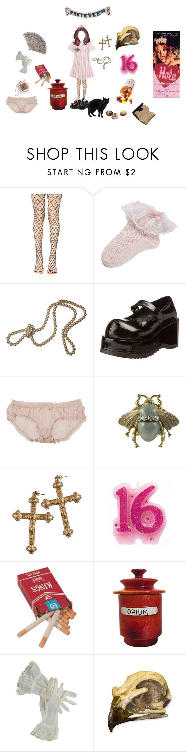 """""""courtney love inspired"""" by giftedchildburnout ❤ liked on Polyvore featuring Leg Avenue, Nasty Gal, Pleaser, PRIVATE LIVES, Forever 21, Rock 'N Rose and Raymor"""