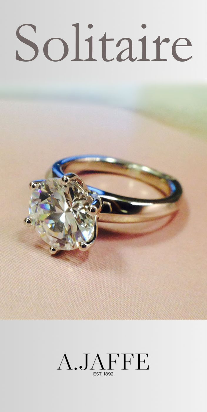 Ajaffe Classic 6 Prong Solitaire Engagement Ring (style Me1560) And