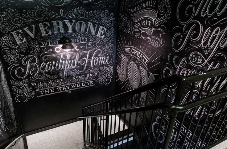 Ourstanding Custom Chalk Lettering by Dana Tanamachi