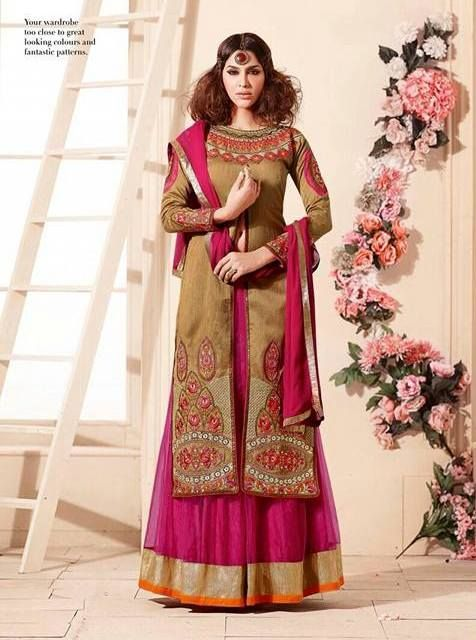 RSF Muskeen Fuux Georgette designer suits ( 10 pc catalog)