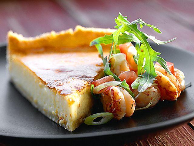 Västerbottenspaj med kräftstjärtar (kock recept.nu)