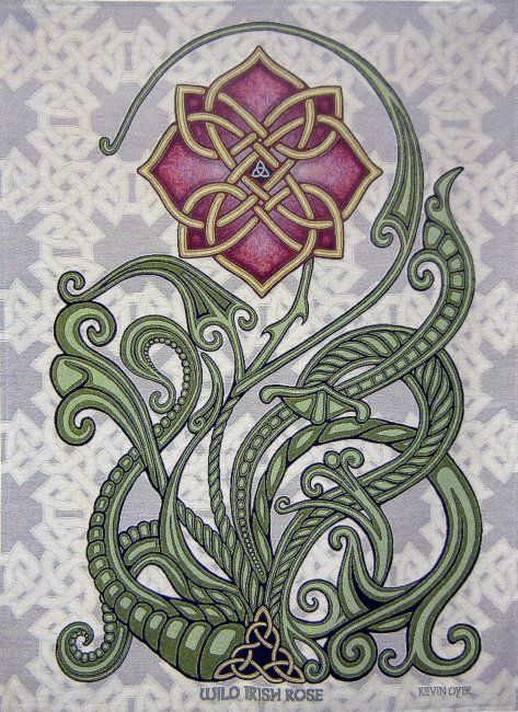 "Wild Irish Rose 26"" x 36"" Woven Tapestry                                                                                                                                                     More"