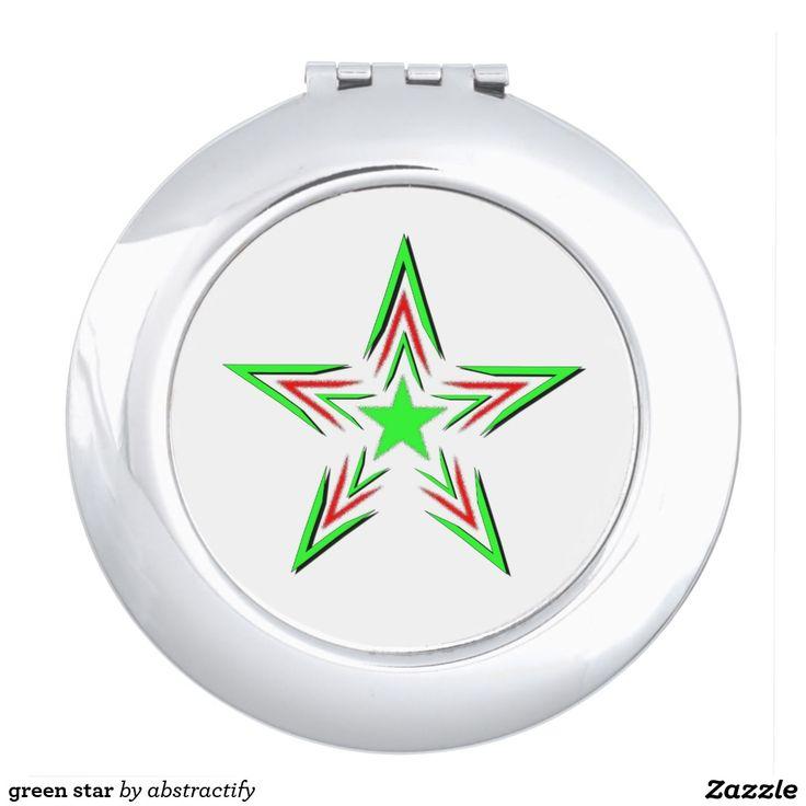 green star makeup mirror