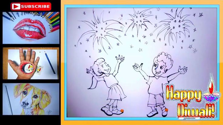 how to draw fireworks step by step on paper