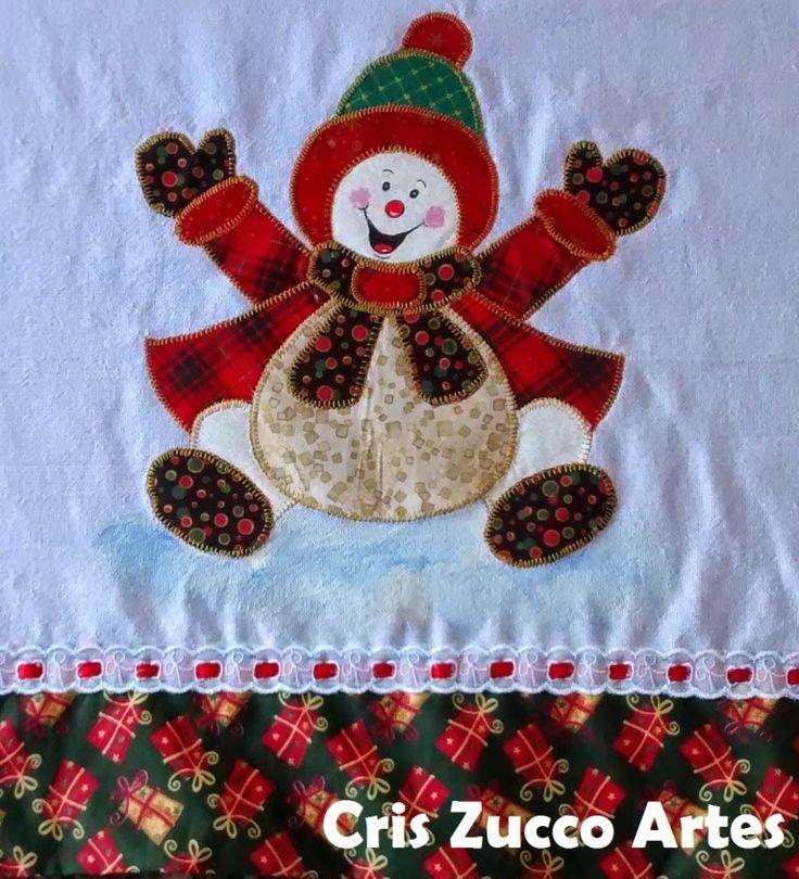Cris Zucco Artes: Panos de prato de Natal