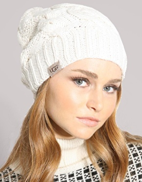Ugg Cable Knit Oversized Beanie Hat  177b3da5308