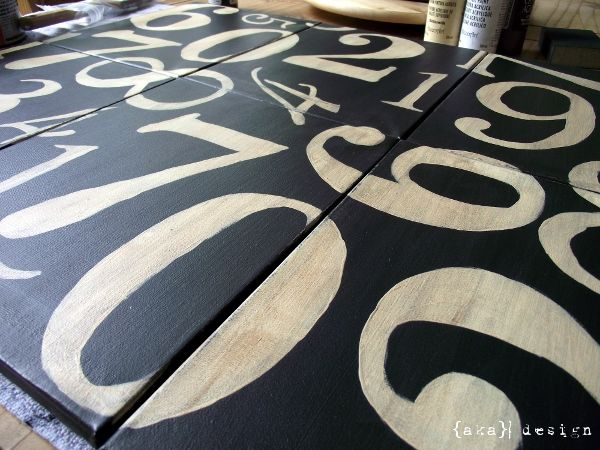 Knock off Potter Barn Numbers Canvas