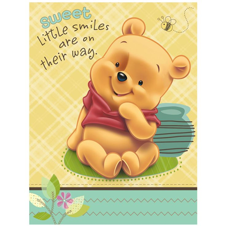 92 best винни images on pinterest | pooh bear, tags and paper, Baby shower invitations