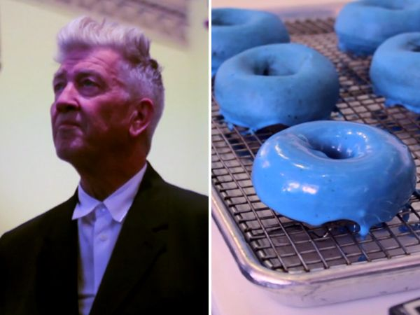 David Lynch-inspired Blue Velvet doughnuts from Federal Donuts.