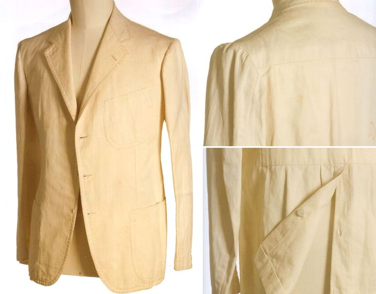 Naples, Mid 1930s. Linen jacket cut by Vincenzo Attolini for London House (Rubinacci.)
