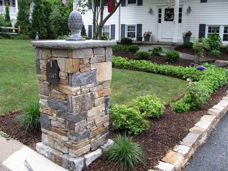 Inspiring Stone Mailbox Inspiration With Fair Natural