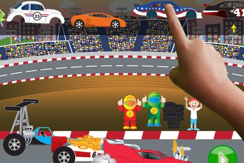 ClickySticky Card ($0.99 - on sale now) ClickySticky™ Cars comes packed with drag race, retro, vintage, sports and monster cars! Your child's imagination will run wild with these 4 new great scenes:    1. Drag Race Scene  2. Classic Roadster Scene  3. Monster Car Scene  4. Junkyard Car Builder Scene