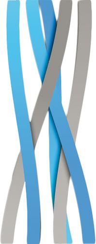 Наклейка «Серо-голубые ленты»Абстракция