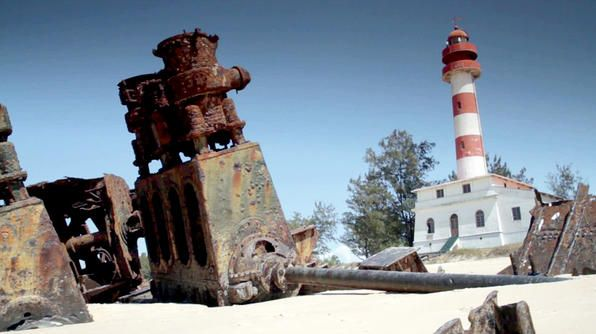 Beira, Mozambique -- worth a visit, even if just to see the massive beached ships.