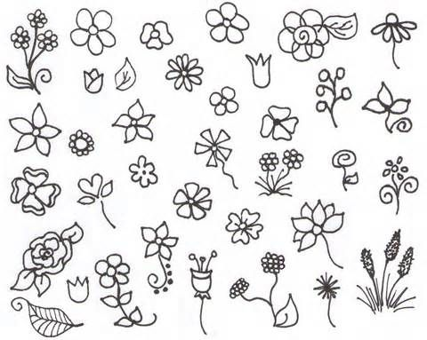 doodles of flowers