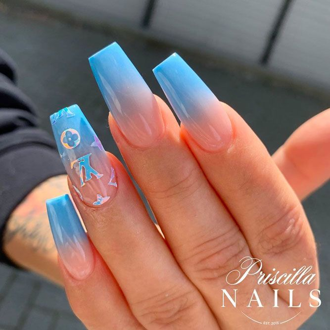 Coffin Nails Ideas For Enchanting Look Naildesignsjournal Com Blue Coffin Nails Coffin Nails Designs Blue Acrylic Nails