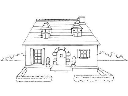 56 best tipos de vivienda images on pinterest coloring for Dessin de maison
