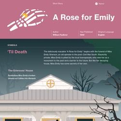 the true nature of emily in a rose for emily by william faulkner A rose for emily is a short story by american author william faulkner, first  published in the  her act of murdering homer also displays her obstinate  nature.