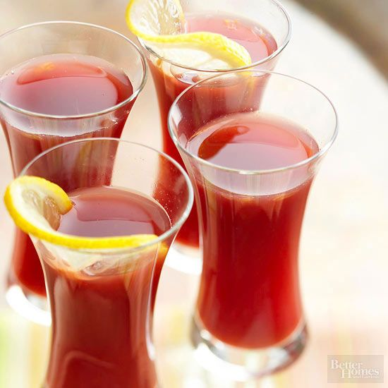 This ruby-red drink is brimming with the warm flavors of cinnamon, cloves, and allspice.