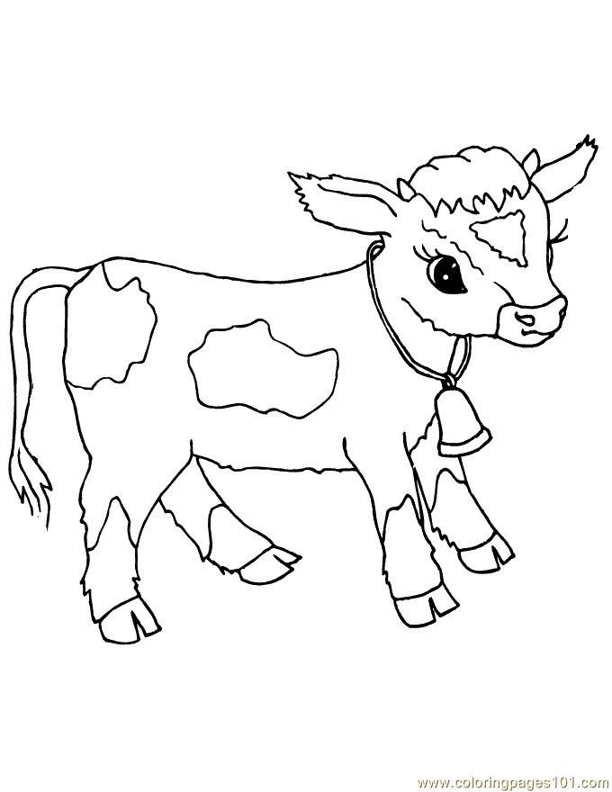 100 ideas Cow Coloring Pages To Print on kankanwzcom