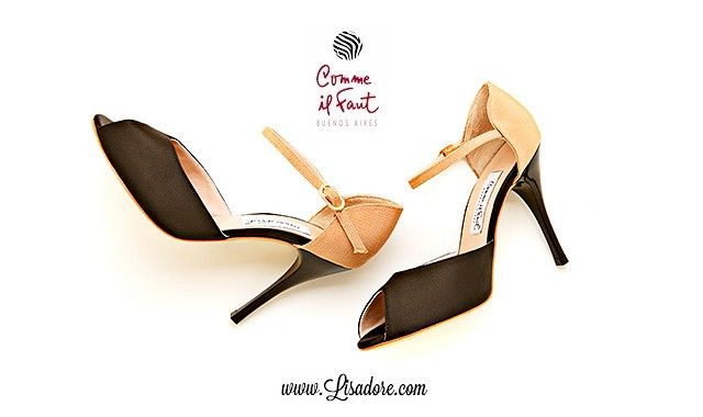 Comme il Faut Shoes - Worlds Most Elegant Exclusive Argetina Tango Shoe.  Available Lisadore.com