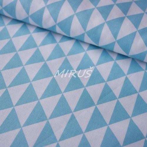 č.3191 Geo vzory tyrkysové