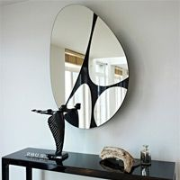 Oval wall mirror Pebbles by Deknudt Mirrors