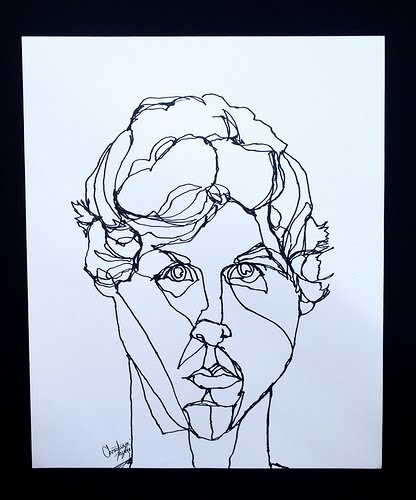Contour Line Drawing Assignment : Best images about faces pen ink on pinterest