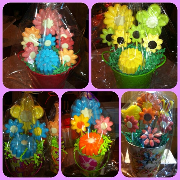 Homemade candy, flower molds. Can also do with soap!
