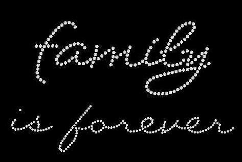 family is forever rhinestone motif design by BlingnPrintStreet