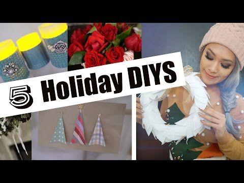 5 SUPER EASY Holiday Home Decor | Christmas DIYS - YouTube