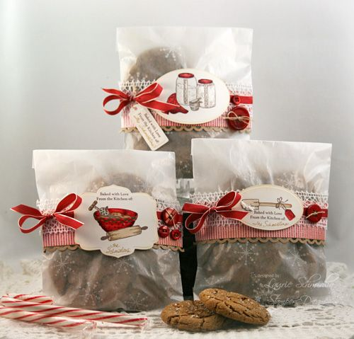 absolutely adorable packaging for holiday baked goods from Laurie Schmidlin #stamping #paper #baking #christmas #wrap