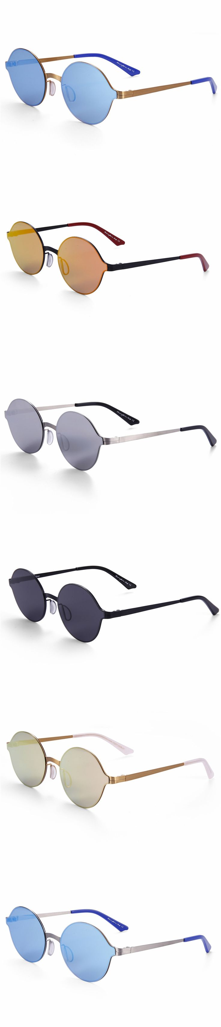 High quality metal material small frame eye glasses frames men and women retro round traveling and beach sunglasses