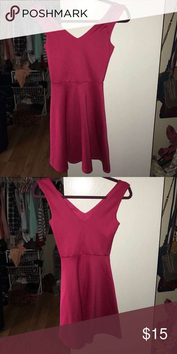 Fit and flare pink charlotte rouse dress Fit and flare fun pink charlotte rouse dress perfect condition worn once Charlotte Russe Dresses Mini