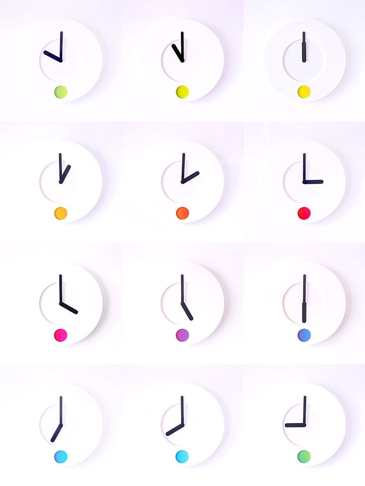 Reloj Color O'Clock que cambia de color según la hora.