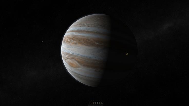 Gaz giant, jupiter, планета, юпитер, спутники