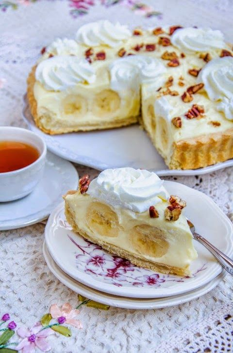 Pentru ca de mult visam la o tarta cu banane buna-buna si pentru ca mi-am adus aminte de Banana straciatella cheesecake  care a a...