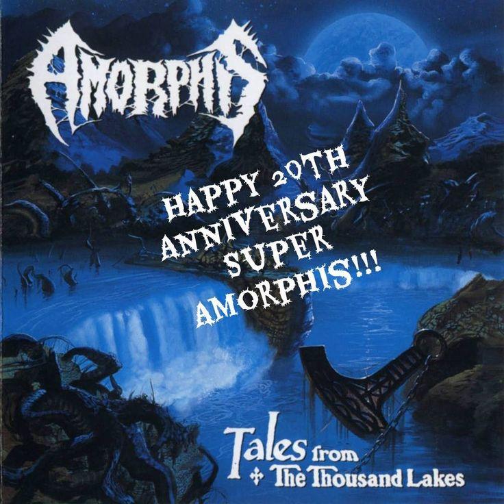"""#Amorphis, en palabras de Esa Hopainen, nos cuentan que por ese 20 aniversario de """"Tales from the Thousand Lakes"""" el 12 de julio, la banda hará un tour dedicado exclusivamente a este álbum para recordarlo íntegramente. De momento, Wacken Open Air es la primera confirmación de este tour ¡Esperamos noticias!   Happy 20th Anniversary Amorphis!!!! Tales, tales, tales thousands years more... \m/"""