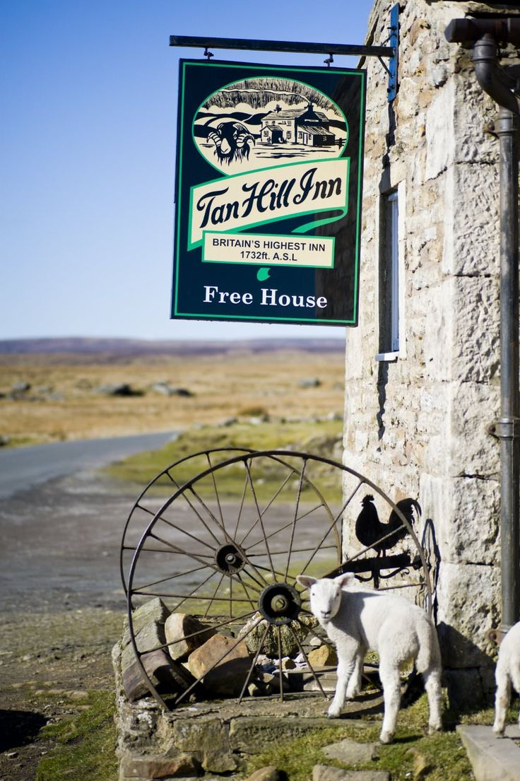 Britain's highest Inn. Tan Hill is a high point on the Pennine Way in the Richmondshire district of North Yorkshire, England.