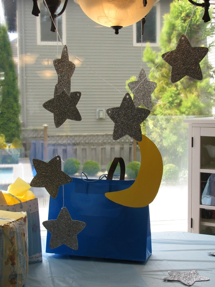 Moon And Stars Baby Shower Dream Big Read Pinterest
