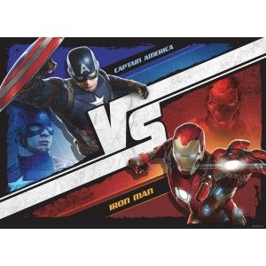 Vasember vs szuperhősök faltapéta (160 x 115 cm)