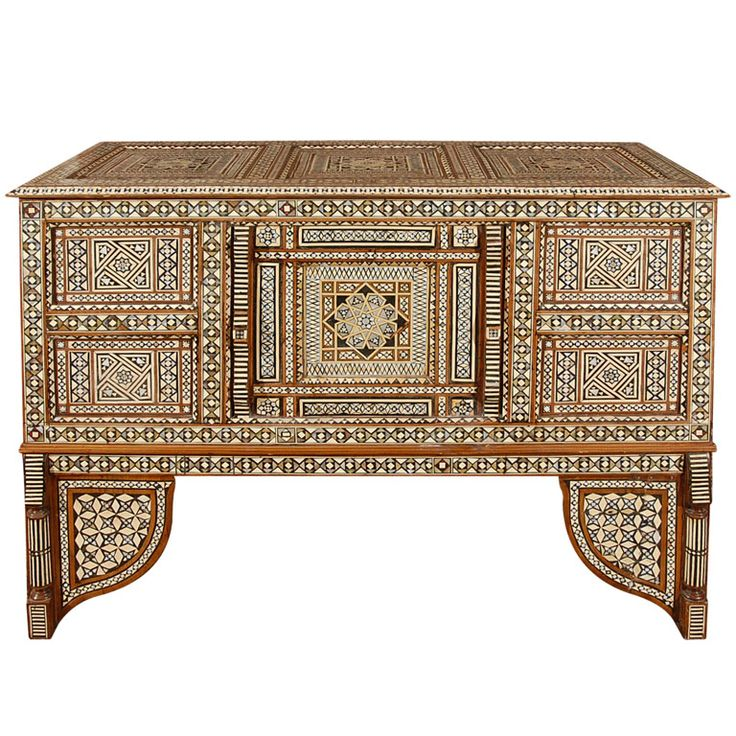 Charming One Of A Kind Wedding Middle Easter Trunk, Inlaid Wit Mother Of Pearl.