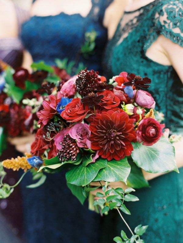A great example of a jewel toned wedding.  I love this.                                                                                                                                                                                 More