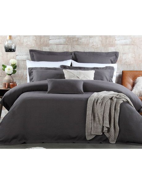 This classic cotton double woven jacquard duvet cover set features a textured design and will create a sophisticated look for your bedroom.