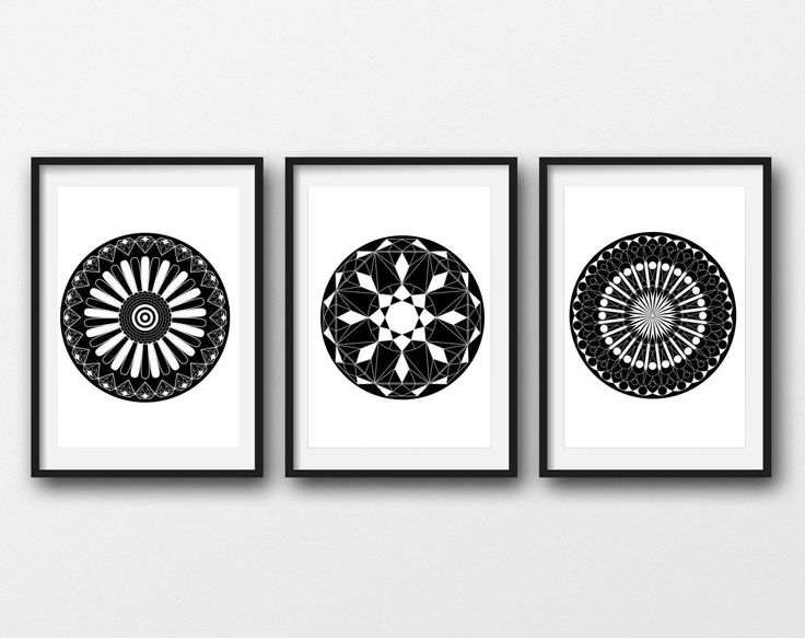 Geometric Printable Decor, Black and White Minimalist Art, Set of three Circle Printable Art, Modern Decor, Geometric Modern Bedroom Decor by MSdesignart on Etsy