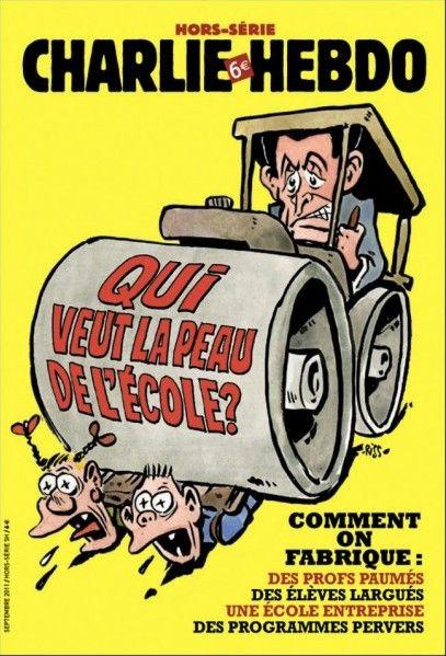Charlie Hebdo - Hors Série # 31 - # 5 - Qui veut la Peau de l'École - Septembre 2011 - Couverture : Riss